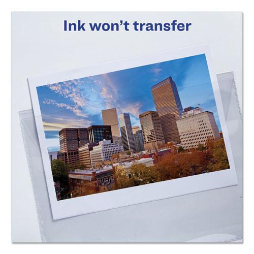 Vinyl File Envelope, Letter Size, Clear. Picture 2
