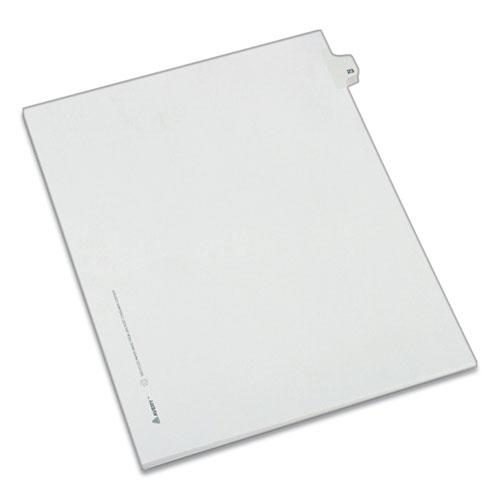 Preprinted Legal Exhibit Side Tab Index Dividers, Allstate Style, 10-Tab, 23, 11 x 8.5, White, 25/Pack. Picture 1