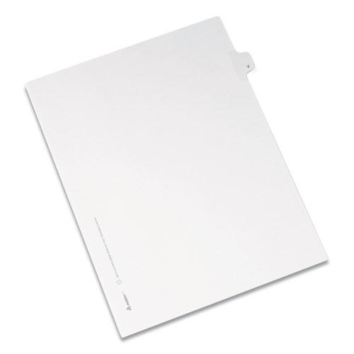 Preprinted Legal Exhibit Side Tab Index Dividers, Allstate Style, 26-Tab, V, 11 x 8.5, White, 25/Pack. Picture 1