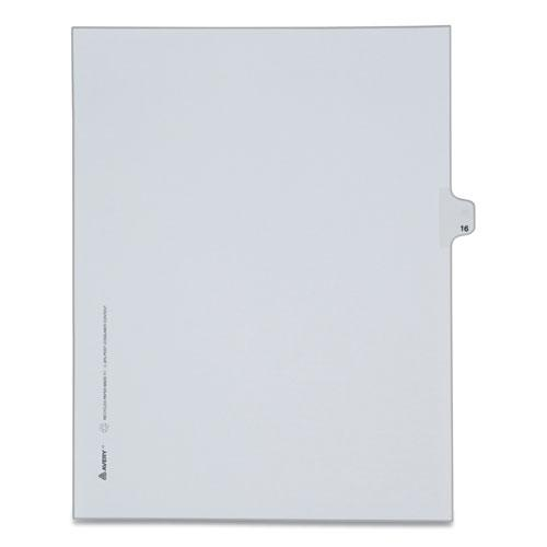 Preprinted Legal Exhibit Side Tab Index Dividers, Allstate Style, 10-Tab, 16, 11 x 8.5, White, 25/Pack. Picture 1