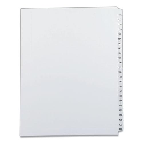 Preprinted Legal Exhibit Side Tab Index Dividers, Allstate Style, 25-Tab, 176 to 200, 11 x 8.5, White, 1 Set. Picture 1
