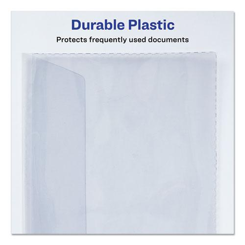 Vinyl File Envelope, Letter Size, Clear. Picture 3