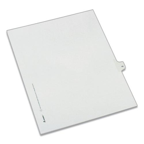 Preprinted Legal Exhibit Side Tab Index Dividers, Allstate Style, 10-Tab, 10, 11 x 8.5, White, 25/Pack. Picture 1