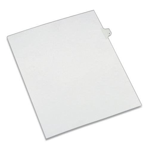 Preprinted Legal Exhibit Side Tab Index Dividers, Allstate Style, 10-Tab, 7, 11 x 8.5, White, 25/Pack. Picture 1