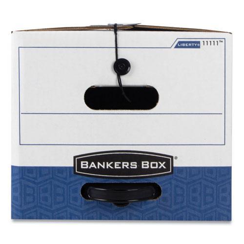 "LIBERTY Plus Heavy-Duty Strength Storage Boxes, Letter Files, 12.25"" x 24.13"" x 10.75"", White/Blue, 12/Carton. Picture 2"