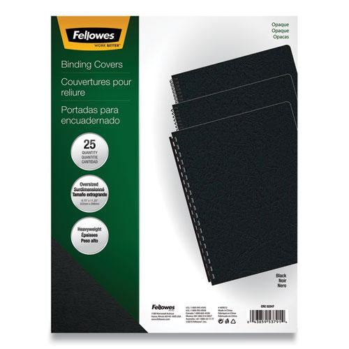 Futura Binding System Covers, Round Corners, 11 1/4 x 8 3/4, Black, 25/Pack. Picture 1