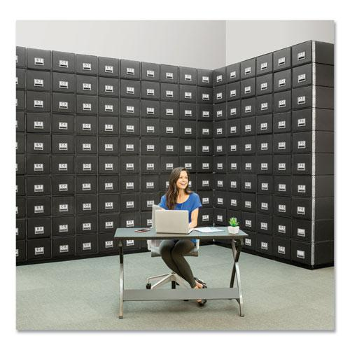 "STAXONSTEEL Maximum Space-Saving Storage Drawers, Legal Files, 17"" x 25.5"" x 11.13"", Black, 6/Carton. Picture 3"
