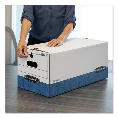 """LIBERTY Heavy-Duty Strength Storage Boxes, Legal Files, 15.25"""" x 24.13"""" x 10.75"""", White/Blue, 4/Carton. Picture 5"""