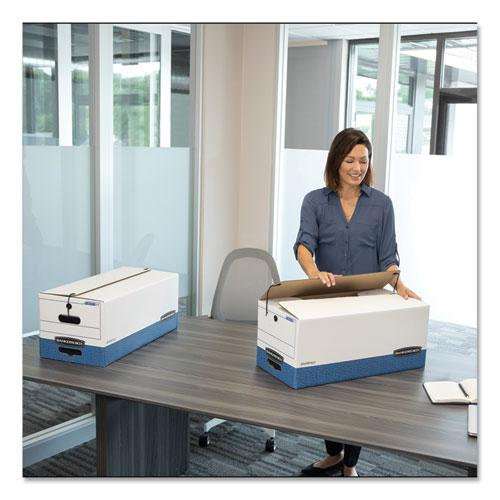 """LIBERTY Heavy-Duty Strength Storage Boxes, Legal Files, 15.25"""" x 24.13"""" x 10.75"""", White/Blue, 4/Carton. Picture 2"""