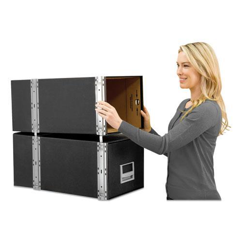 "STAXONSTEEL Maximum Space-Saving Storage Drawers, Legal Files, 17"" x 25.5"" x 11.13"", Black, 6/Carton. Picture 4"