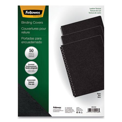 Executive Leather-Like Presentation Cover, Round, 11-1/4 x 8-3/4, Black, 50/PK. Picture 1