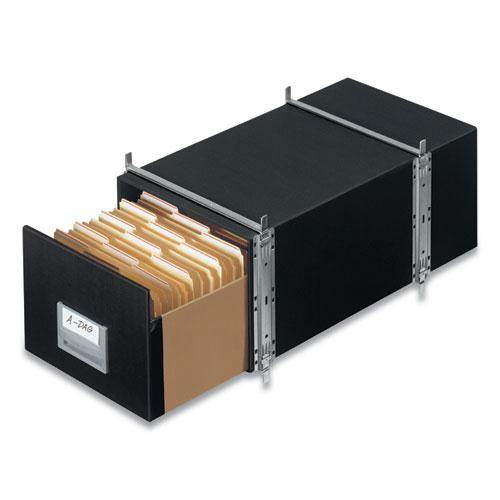 "STAXONSTEEL Maximum Space-Saving Storage Drawers, Legal Files, 17"" x 25.5"" x 11.13"", Black, 6/Carton. Picture 5"