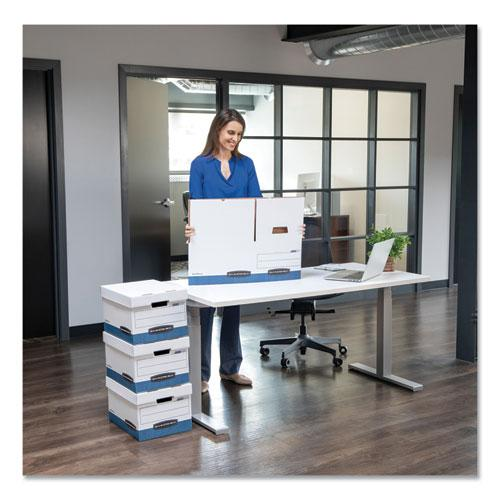"STOR/FILE Medium-Duty Storage Boxes, Letter Files, 12.88"" x 25.38"" x 10.25"", White/Blue, 12/Carton. Picture 2"