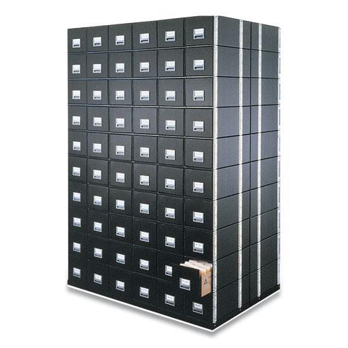 "STAXONSTEEL Maximum Space-Saving Storage Drawers, Legal Files, 17"" x 25.5"" x 11.13"", Black, 6/Carton. Picture 1"