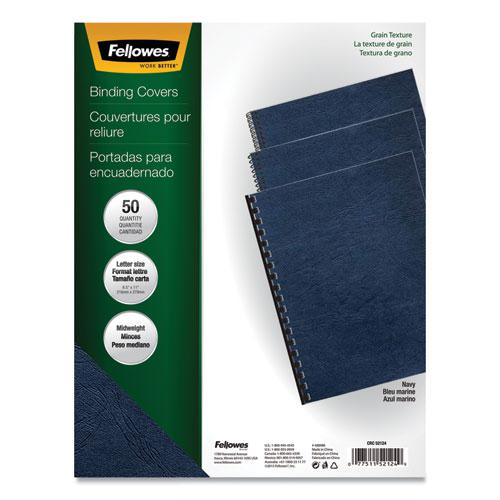 Classic Grain Texture Binding System Covers, 11 x 8-1/2, Navy, 50/Pack. Picture 1