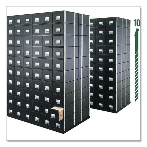 "STAXONSTEEL Maximum Space-Saving Storage Drawers, Legal Files, 17"" x 25.5"" x 11.13"", Black, 6/Carton. Picture 2"