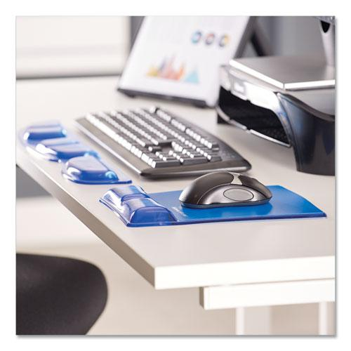Gel Wrist Support w/Attached Mouse Pad, Blue. Picture 3