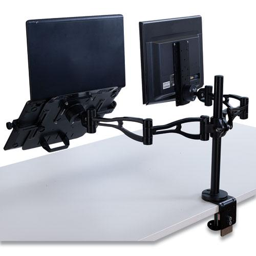 Professional Series Depth Adjustable Monitor Arm, 360 Degree Rotation, 37 Degree Tilt, 360 Degree Pan, Black, Supports 24 lb. Picture 2