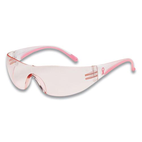 Eva Optical Safety Glasses, Anti-Scratch, Pink Lens, Pink/Clear Frame. Picture 1