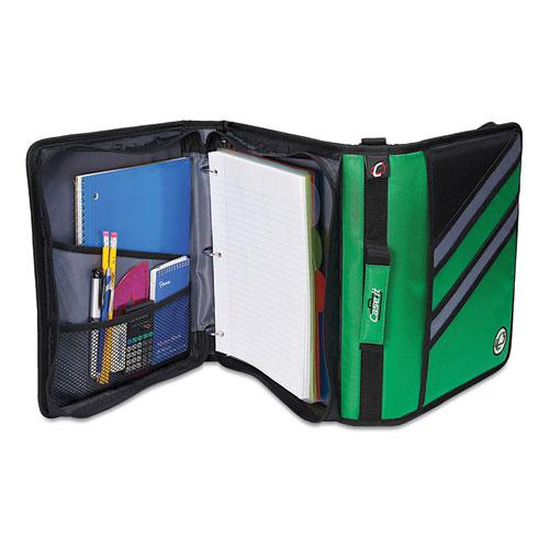 """Z-System 2-in-1 Zipper Binder, 3 Rings (x2), 1.5"""" Capacity (x2), 11 x 8.5, Black/Gray Accents. Picture 2"""