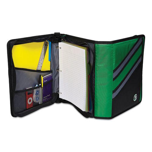 """Z-System 2-in-1 Zipper Binder, 3 Rings (x2), 1.5"""" Capacity (x2), 11 x 8.5, Black/Gray Accents. Picture 3"""