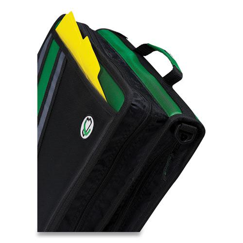 """Z-System 2-in-1 Zipper Binder, 3 Rings (x2), 1.5"""" Capacity (x2), 11 x 8.5, Black/Gray Accents. Picture 4"""