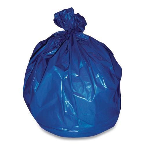 """High-Density Can Liners, 30 gal, 14 mic, 30.5"""" x 43"""", Blue, 250/Carton. Picture 1"""