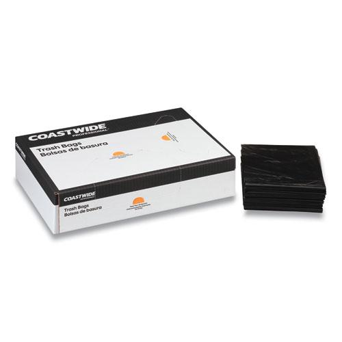 """Reprocessed Resin Can Liners, 60 gal, 1.3 mil, 38"""" x 58"""", Black, 100/Carton. Picture 2"""