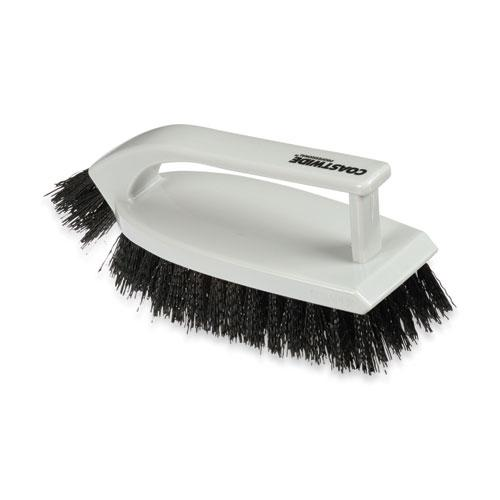 "Scrub Brush, Polypropylene, 6"", Gray. Picture 1"