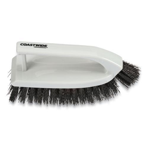 "Scrub Brush, Polypropylene, 6"", Gray. Picture 2"