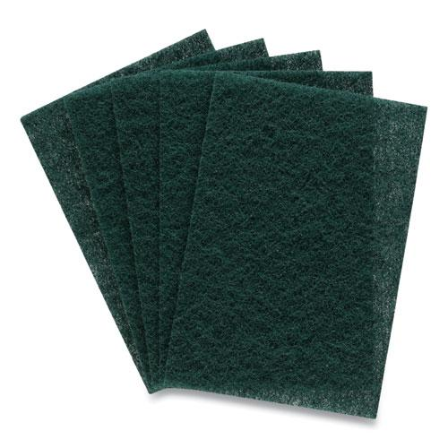 Heavy Duty Scouring Pads, Green, 12/Pack. Picture 1