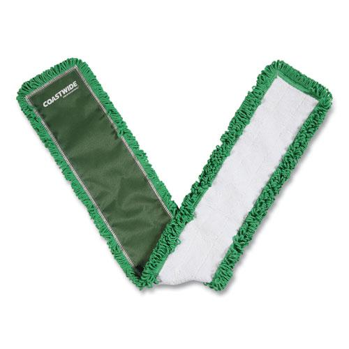 Looped-End Dust Mop Head, Microfiber, 48 x 5, Green. Picture 1