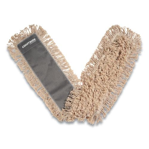 Cut-End Dust Mop Head, Cotton, 48 x 5, White. Picture 1