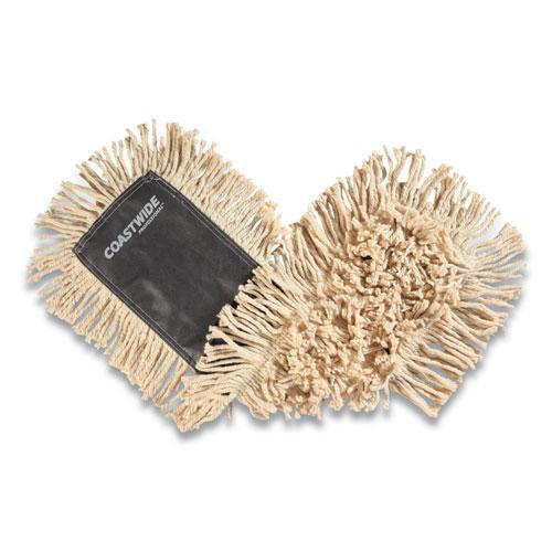 Cut-End Dust Mop Head, Economy, Cotton, 24 x 5, White. Picture 1