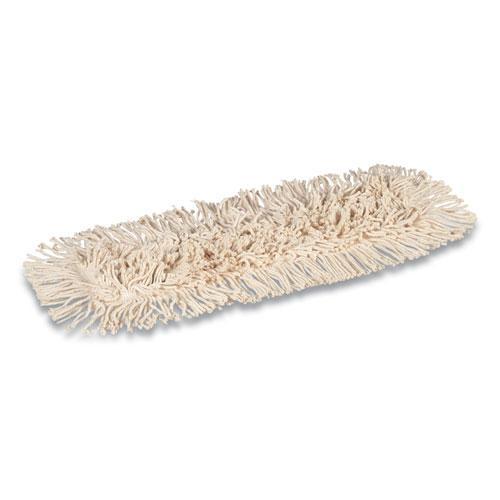 Cut-End Dust Mop Head, Economy, Cotton, 24 x 5, White. Picture 2