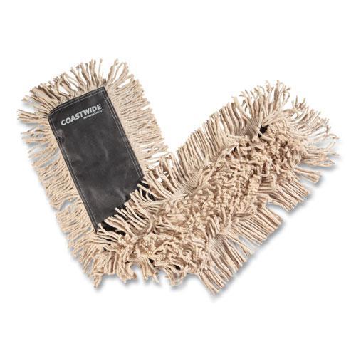 Cut-End Dust Mop Head, Economy, Cotton, 36 x 5, White. Picture 1