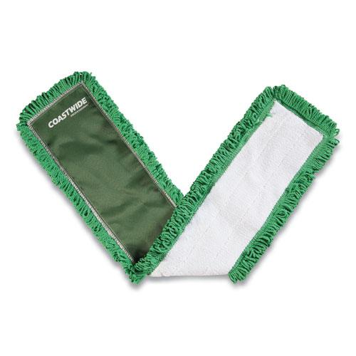 Looped-End Dust Mop Head, Microfiber, 36 x 5, Green. Picture 1