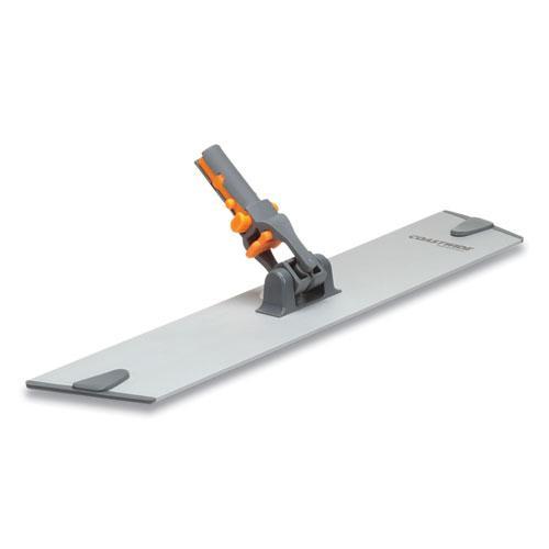 "Wet/Dry Microfiber Mop Frame, 15.75"" x 3.15"", Aluminum/Plastic, Gray/Orange. Picture 1"