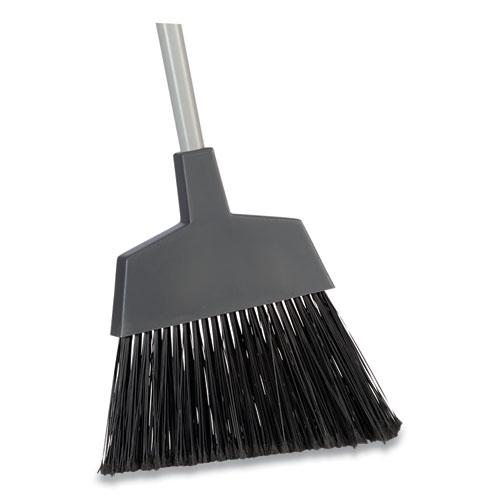 """Angled Broom, 53"""" Overall Length, Gray. Picture 1"""