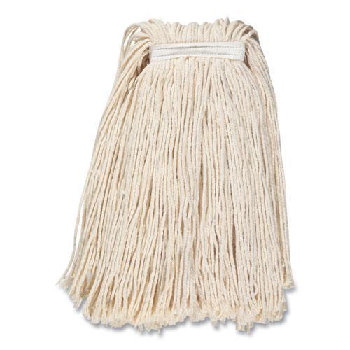 "Cut-End Wet Mop Head, Cotton, #32, 1"" Headband, White. Picture 2"