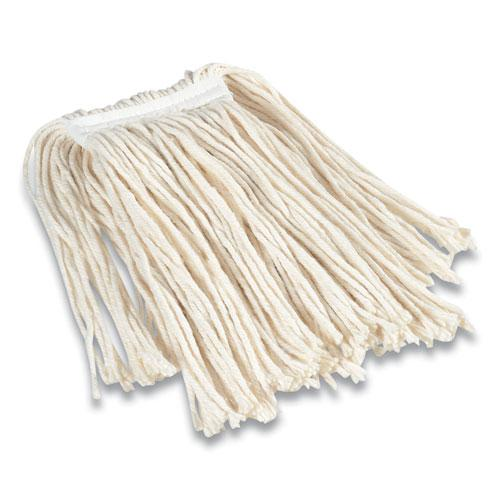 "Cut-End Wet Mop Head, Cotton, #16, 1"" Headband, White. Picture 1"