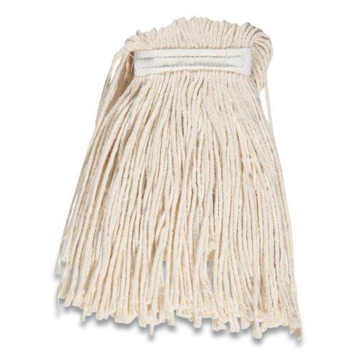 "Cut-End Wet Mop Head, Cotton, #16, 1"" Headband, White. Picture 2"