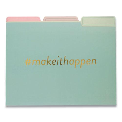 Fashion File Folders, 1/3-Cut Tabs, Letter Size, Hashtag Assortment, 9/Pack. Picture 2