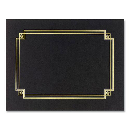 Premium Textured Certificate Holder, 12.65 x 9.75, Black, 3/Pack. Picture 1