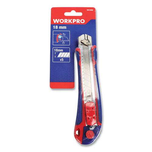 Plastic Snap-Off Knife, 18 mm, 5 Self-Loading Blades. Picture 1