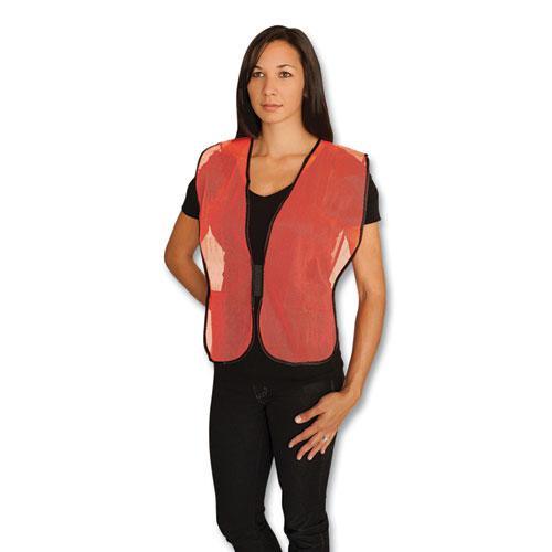 Hook and Loop Safety Vest, Hi-Viz Orange, One Size Fits Most. Picture 1