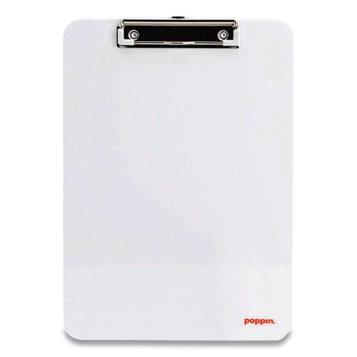 Plastic Clipboard, Holds 8.5 x 11 Sheets, White. Picture 1