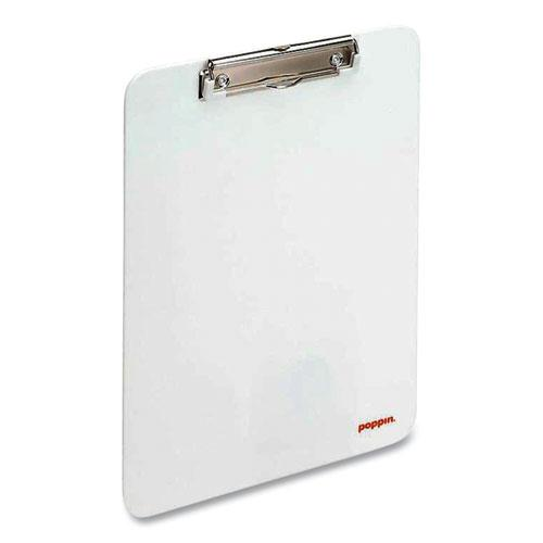 Plastic Clipboard, Holds 8.5 x 11 Sheets, White. Picture 2