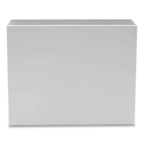 Plastic File Box, Letter Files, 3.75 x 12.25 x 9.75, White. Picture 1