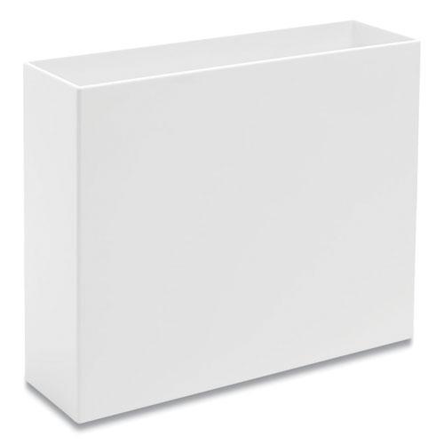 Plastic File Box, Letter Files, 3.75 x 12.25 x 9.75, White. Picture 2
